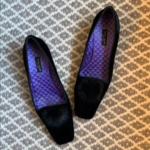 Black velvet loafer